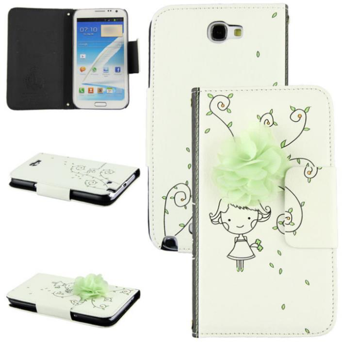 Hot Marketing Hot Selling Leather Wallet Hard Case Cover For Samsung Note2 N7100(China (Mainland))