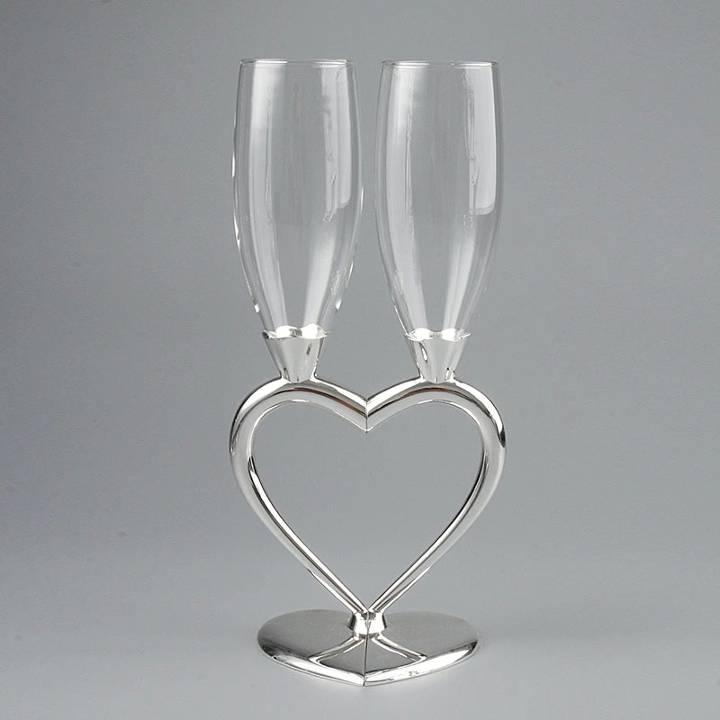 Fashion wedding toasting flute red wine cup goblet heart champagne glass wedding gifts wine glass(China (Mainland))