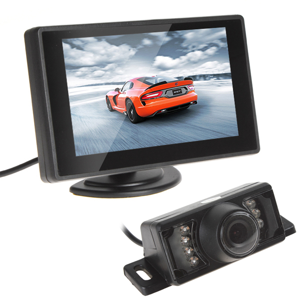 Гаджет  Waterproof CMOS 420TVLs Car Rear View Camera Night Vision Car Monitor With 4.3 Inch TFT LCD Monitor Vehicle Parking Assistance None Автомобили и Мотоциклы
