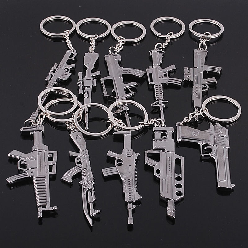 Cross Fire M14 Gun Key Chains Weapon Silver Ring Cell Phone & handbag Keyring Women men Jewelry Keychain Accessories Charm Gifts(China (Mainland))