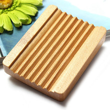 1Pcs Women Girl Favor Bathroom Natural Trapezoid Wood Soap Dishes Box Container Holder Home Accessory Hot(China (Mainland))