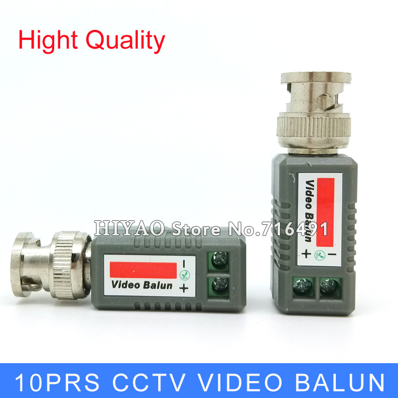 10Pairs Freeshipping Twisted CCTV Video Balun passive Transceivers UTP Balun BNC Cat5 CCTV UTP Video Balun up to 3000ft Range(China (Mainland))