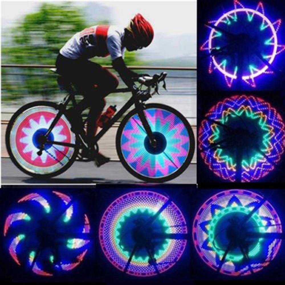 New Arrival Colorful Bicycle Lights Bike Cycling Wheel Spoke Light 32 LED 32-pattern Waterproof free shipping(China (Mainland))