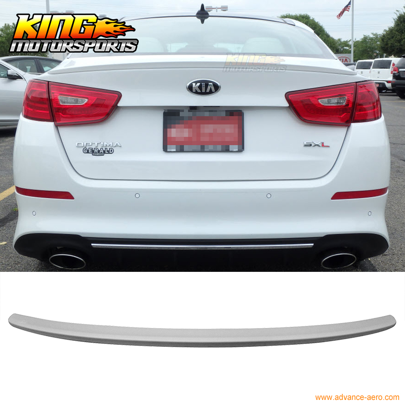 Fit 14-15 Kia Optima Flush Mount Trunk Spoiler OE Style Unpainted ABS