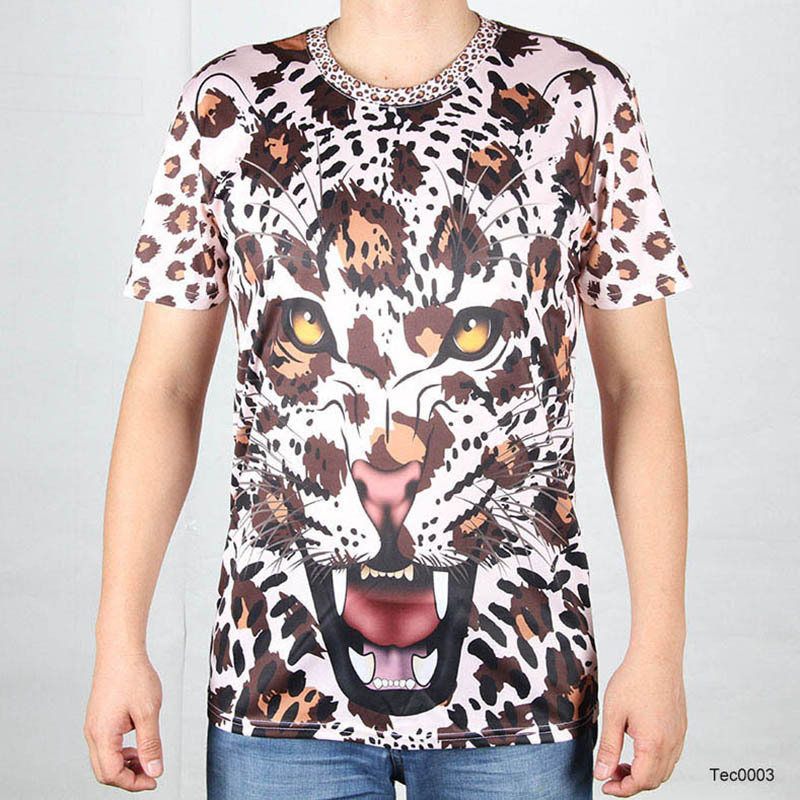Camisetas hombre leopardo for Wildlife t shirts wholesale