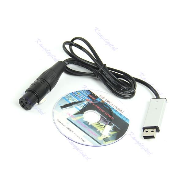 Satge Регулятор освещения диммер dmx512 для компьютера PC USB к DMX Интерфейс адаптер Новый