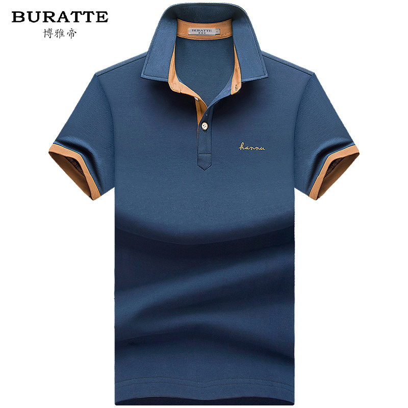 2015 new high quality brand men collar polo shirt men