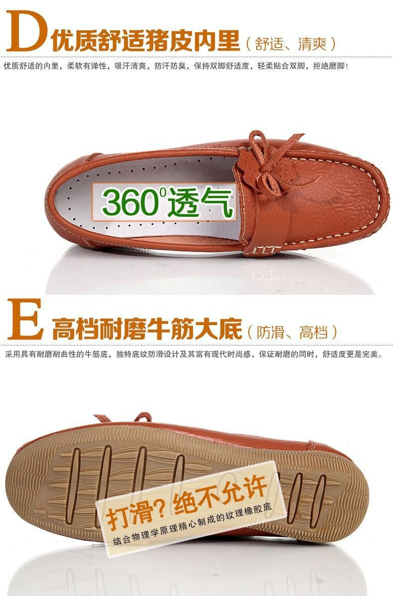 2016 women flats women genuine leather shoes flat moccasins woman casual shoes 885