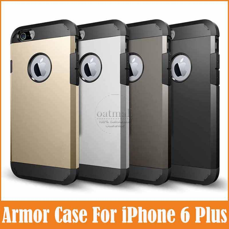 tough sleek armor apple iphone 6 plus case 5.5 inch accessories fundas iPhone6 + durable slim Mobile phone bags & covers - Oatmall store