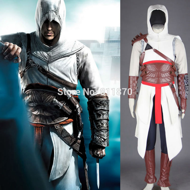 Assassin Creed Cosplay Altair Mens Clothes Halloween Costume Evening Dress Gown Rode Fancy DressОдежда и ак�е��уары<br><br><br>Aliexpress