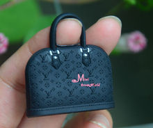 1/6 Scale Dollhouse Miniature Black Plastic  TOY Lady Handbag Bag model(China (Mainland))