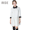 IRISIE Apparel White Sweet Slim Female Vestido Color Block Contrast Chic Mini Dress Casual Basic A