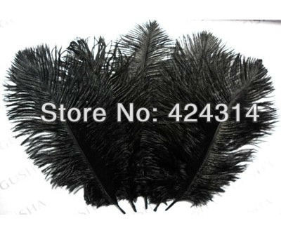 "Wholesale Quality Natural Ostrich Feather 100pcs/lot 30-35cm 12-14"" black ostrich drab feather Free Shipping(China (Mainland))"
