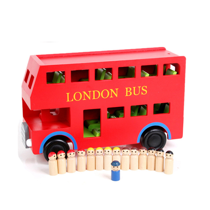 Tru r bus red bus toy car wooden toy(China (Mainland))