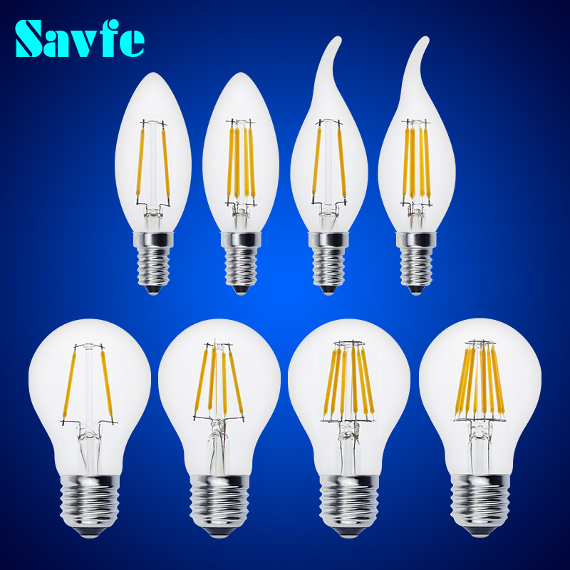 Antique Retro Vintage LED Edison Bulb E27 LED Bulb E14 Filament Light 220V Glass Bulb Lamp 4W 8W 12W 16W Candle Light Lamp(China (Mainland))