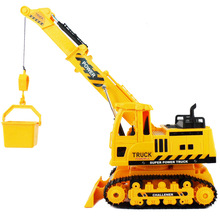 RC Trucks Hot toys products eight channel engineering vehicle crane remote control car toys with light and music(China (Mainland))