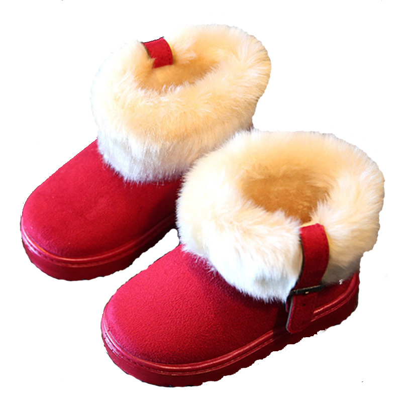 Size 26-30 Winter Children girls snow boots shoes warm plush soft baby girls boots kids winter snow boot baby shoes 0607(China (Mainland))