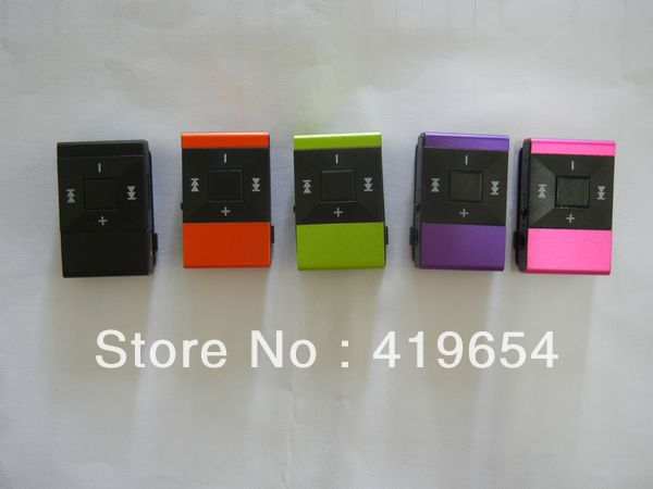 Plastic Clip MP3 Player Cheap Mini Music Player With MicroSD TF Card Slot 500PCS DHL EMS Free SHIPPING(China (Mainland))