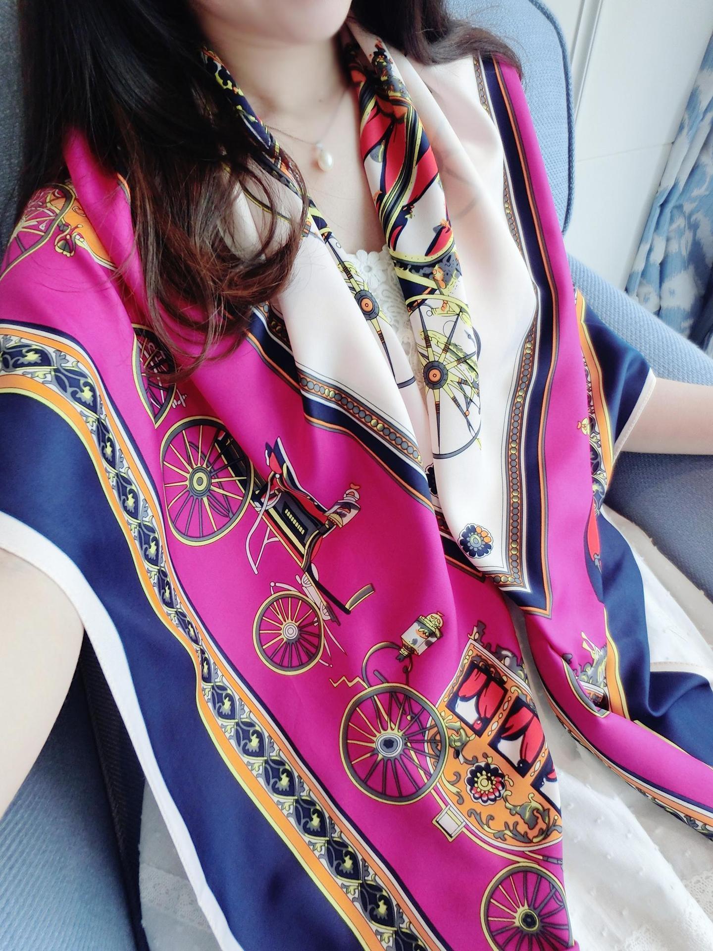 Sunscreen Scarves Silk Scarf Poncho Fur Trim Silk Hijab Carriage Chain Pattern Shawls(China (Mainland))