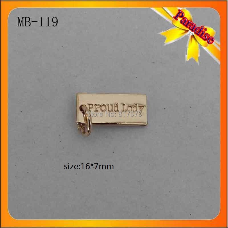 (MC-119)Factory custom high quality metal jewelry tags metal tags for clothing,custom handbag metal tags,metal purse tags(China (Mainland))