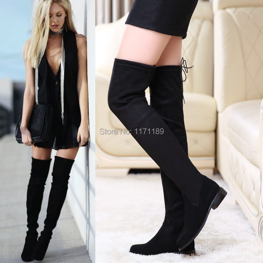 Slim Calf Over The Knee Boots - Boot Hto