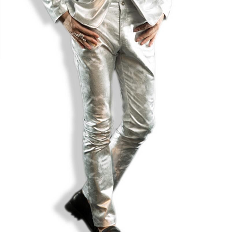 Free shopping Slim pants suit male singer costumes Korean version of casual trousers feet / S-3XL(China (Mainland))