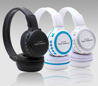 Folding mp3 headset Zealot 800 Memory card support FM radio head phone Multi function computer mobile headphone with microphone