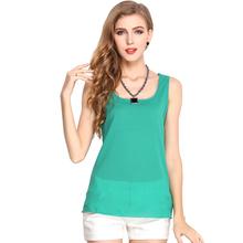 2016 New Summer Women Tank Tops Women Chiffon Sleeveless T Shirt Female Camisole Blusas Femininas S-XXXL Plus Size