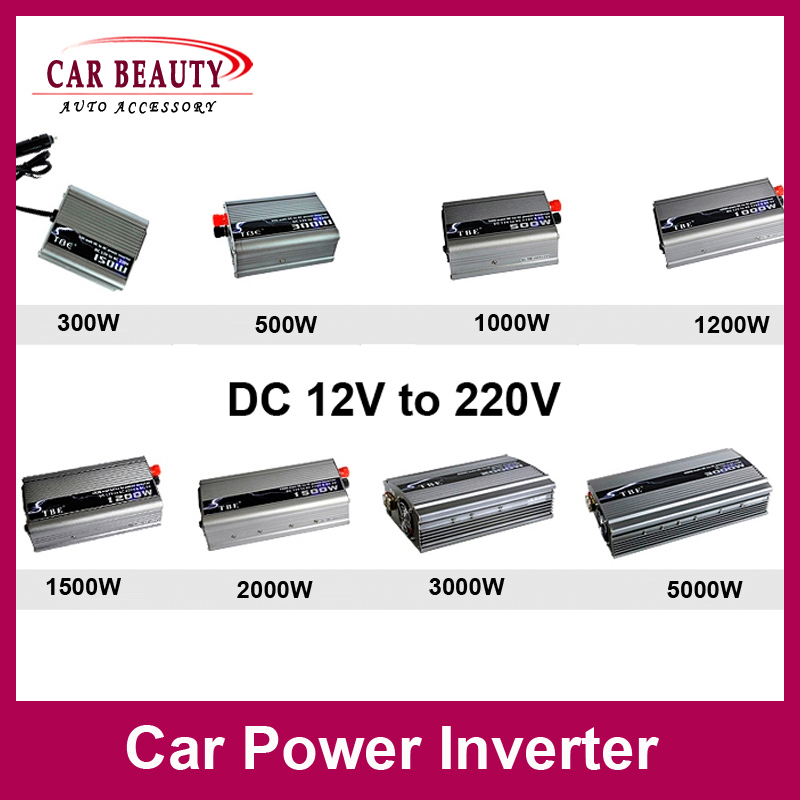 Free Shipping New Car Power Inverter DC 12V 24V AC 220V Modified Sine Wave 1500W 2000W 3000W 5000W Converter(China (Mainland))