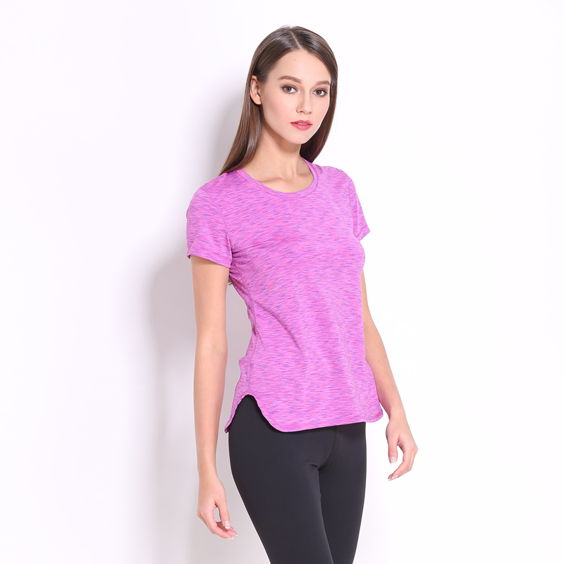 S-XL Fashion 2016 Quick Drying Gym T Shirt Tights Women's Sport Tees for Running Gym Fitness Short Sleeve Clothes Tops for Woman(China (Mainland))