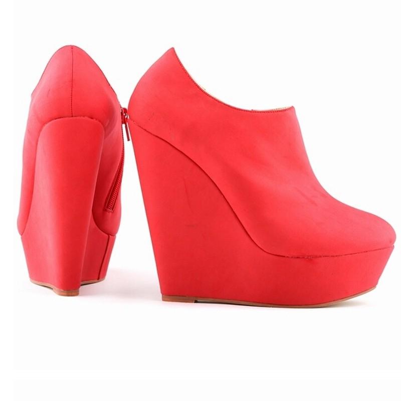 10 Colors New Sexy Lady Wedges Super 14cm High Heels Platform Vogue Women's Shoes Fashion Pumps Big Size 35-42