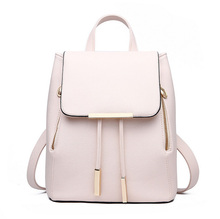 Women Daily Backpacks Daypack Girl  School Bag PU Leather Bags Candy Color Travel  bag(China (Mainland))