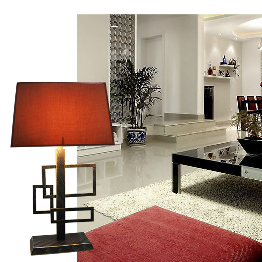 Chinese table lamp modern minimalist Ikea desk lamp study rooms fabric(China (Mainland))