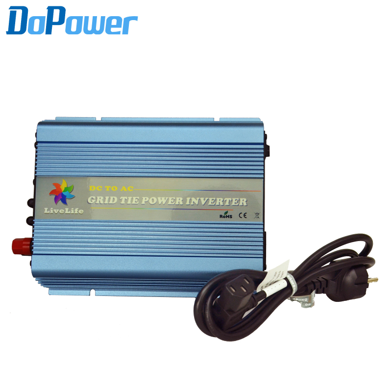 Grid tie inverter 600W 22V-60VDC to 110VAC( 90V-140VAC) 220V (190-260VAC) Output For Solar System(Hong Kong)