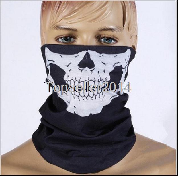 1 Piece New Hot Skull Bandana Bike Motorcycle Helmet Neck Face Mask Paintball Ski Sport Headband X1702(China (Mainland))