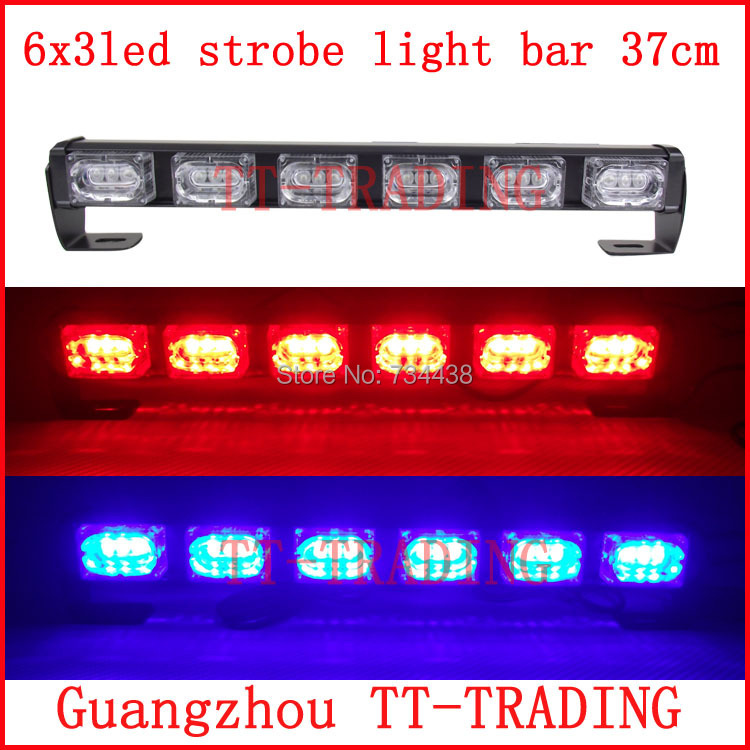 6x3 led Police strobe lights vehicle strobe light bar car warning lights led emergency strobe lights DC12V RED BLUE WHITE AMBER(China (Mainland))