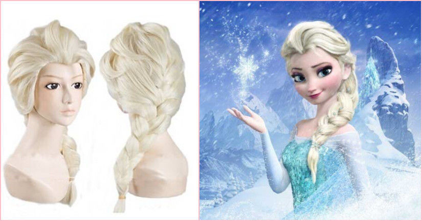 Гаджет  For Kids Girls Beauty ELSA LONG BLONDE BRAIDS DESIGN COSTUME Braids WIG CAP None Волосы и аксессуары