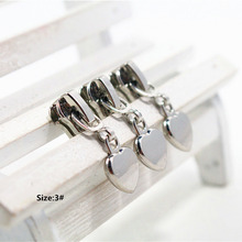 Buy 3# 20pcs High silver heart metal copper zipper head, clothing accessories,DIY Zipper Sliders Garment Accessories,x1 for $4.76 in AliExpress store