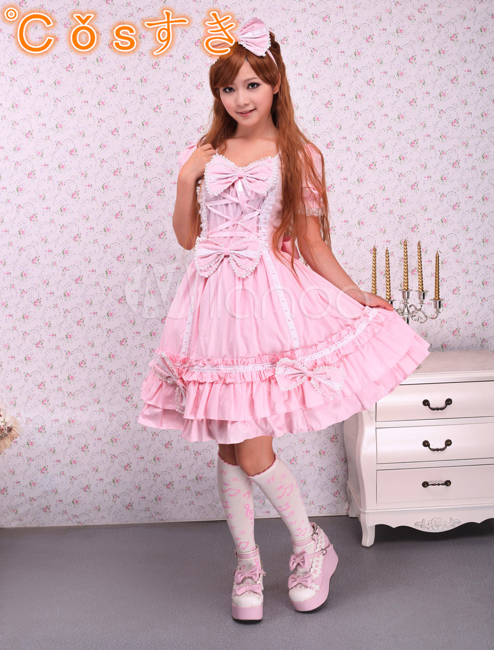 Free shipping! Newest! High - quality! Cotton Pink Cape Sweet Lolita DressОдежда и ак�е��уары<br><br><br>Aliexpress