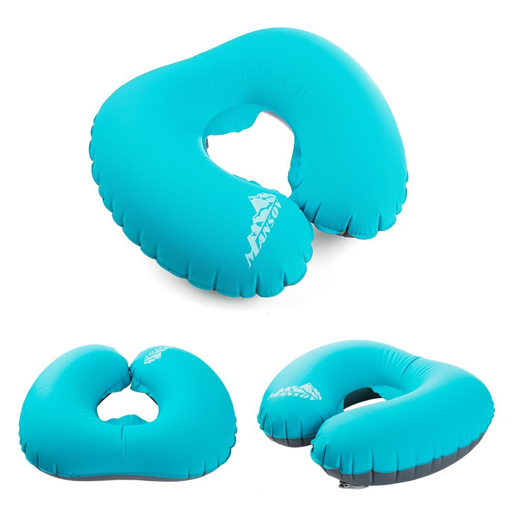 Inflatable Pillow Travel U-Shape Pillow For Airplane Inflatable Neck Pillow Travel Accessories Comfortable Pillows For Sleep(China (Mainland))