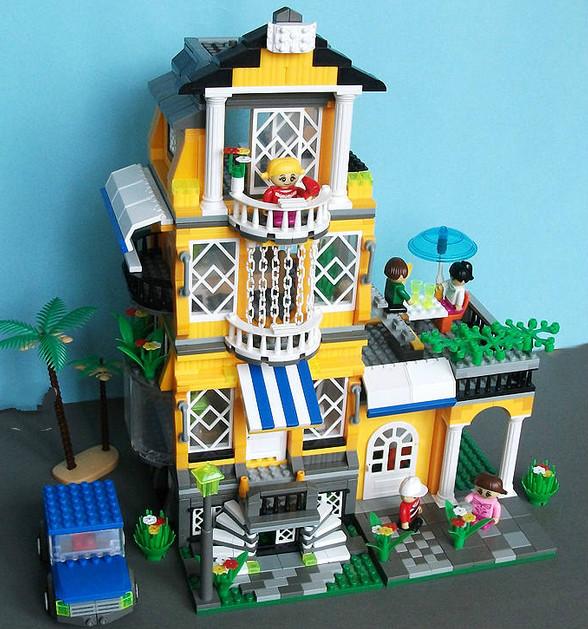 building block set compatible lego new city Full House 3 1 3D Construction Brick Educational Hobbies Toys Kids