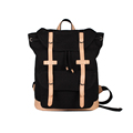 Men 2016 New Fashion Backpack PU Canvas Splicing Large Capacity Bag Drawstring Belt Buckle Backpack Computer