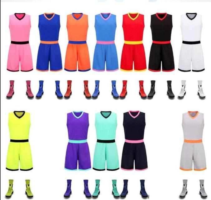 2016 new arrival mens cheap throwback basketball Jersey sets youth blank college sport jerseys training uniforms tracksuit print(China (Mainland))
