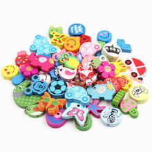 Buy Wooden Bead 100pcs Various Shapes Multicolor Cute Wood Beads 13-30mm Baby Toys DIY Crafts Kids Toys & Pacifier Clip for $5.51 in AliExpress store
