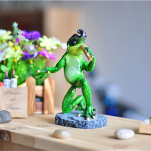 The Hillbilly Cat modeling Frog Figurines Creative Elvis styling Resin Crafts Sculpture Garden Home Decoration