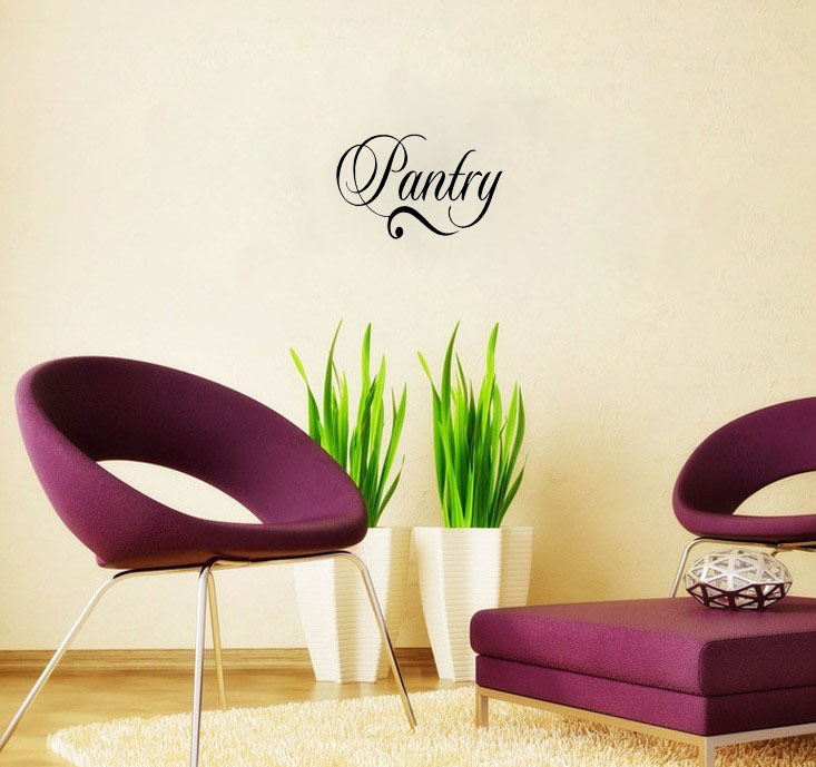 pantry decal vinyl lettering wall art words quotes home