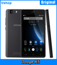 Instock 3G Original Doogee X5 8GBROM 1GBRAM 5.0″ Smartphone Android 5.1 MT6580 Quad Core Support for Google Plays Store