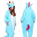 Free shipping Wholesale Adult Flannel Hoodie Pony Unicorn Unisex Men Women Pajamas Costume Cosplay Animal Onesies