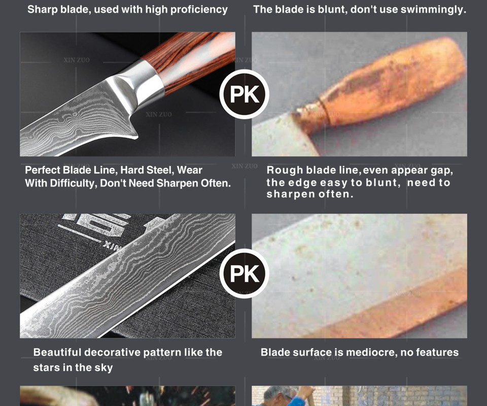 "Buy NEW 6"" INCH boning knives VG-10 73 layers Damascus steel kitchen knife Damascus knife kitchen tools knife Free shipping cheap"
