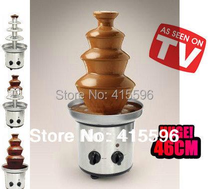 NO.1 Store Chocolate Fountain Fondue Event Wedding Children Birthday Festive & Party Supplies Christmas Waterfall Machine(China (Mainland))